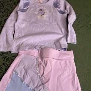 Apres ski 5 gymboree bunny shirt skort skirt vinta